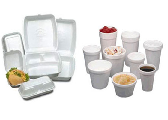 Take out foam containers recycling can prevent the use ban