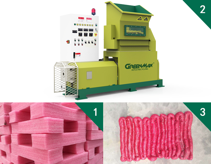Polyethylene Foam melter recycling