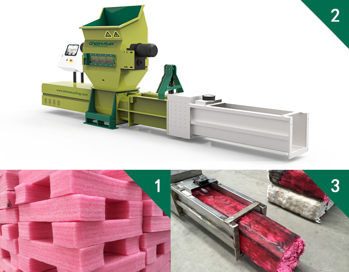Polyethylene PE foam (EPE) waste recycling company - GREENMAX