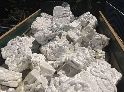 melted styrofoam