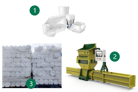 psp foam recycling process